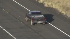 Arizona Highway Cars Stock Footage
