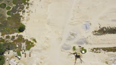 Aerial view of Californian sand and soil Stock Footage