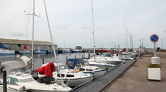 The small marina in Hundested harbor Stock Footage