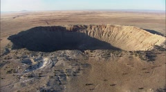 Arizona Desert Barringer Crater Stock Footage