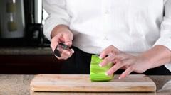 Celery Triple Slice.mp4 Stock Footage
