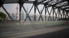 Time lapse of traffic at Waibaidu Bridge - stock footage