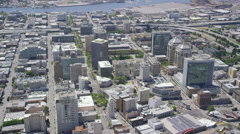 Aerial view of Silicon Valley area in California Stock Footage