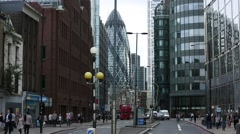 The Gherkin in London, England, Britain, UK, GB - stock footage