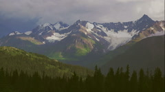 Canadian Mountains and Glaciers Alpine Scenic Timelapse faster color shift HD - stock footage