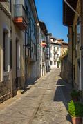 llanes in asturias street. spain - stock photo