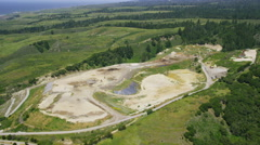 Aerial view of Quarry Stock Footage