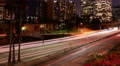 4K LA Night Cityscape 28 L Timelapse Downtown 110 Freeway Footage