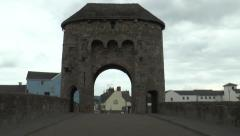 Monnow medieval bridge and gate 4 Stock Footage