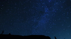 Colorado Night Sky Timelapse - stock footage