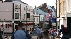 English High Street Stock Footage