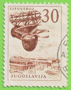 Stamp yugoslavia Stock Photos