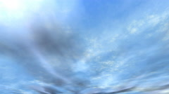 Sky Animation 4k clouds in the sky movement out of the atmosphere Stock Footage