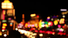 LAS VEGAS -  VEGAS STRIP BLURRED LIGHTS Stock Footage