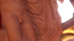 Stock Video Footage of LAS VEGAS -STATUE OUTSIDE OF CAESAR'S PALACE ROTATING TILT