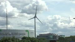 Wind turbine Greenpark Reading from Kirtons Farm road 8 Stock Footage