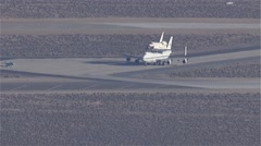Space Shuttle Endeavour Tarmac Stock Footage