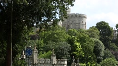 Windsor Castle The Round Tower England, GB Stock Footage
