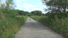 Track to Southcote Mill 50 Stock Footage