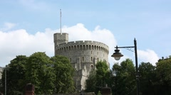 Windsor Castle Round Tower, England, Britain, GB, UK, Europe Stock Footage