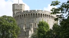 Windsor Castle The Round Tower England, GB, UK Europe Stock Footage
