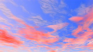 Stock Video Footage of Sky sunset Animation 4k clouds movement
