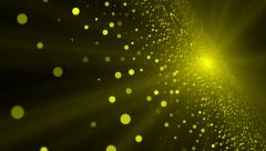 Yellow Dots Grow and Shrink in Size, Depth of Field, Loop, HD, 1080 Stock Footage