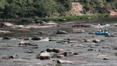 Rafting On The James River In Richmond, Virginia Stock Footage