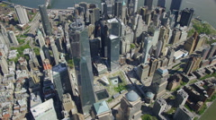Aerial shot of One World Trade Center Freedom Tower - stock footage