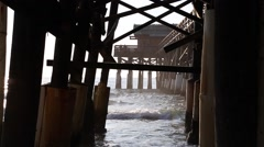 Famous Cocoa Beach Fishing Pier Stock Footage