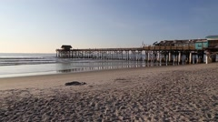 Cocoa Beach Pier and beaches Stock Footage