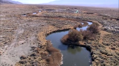 Desert Dry Mountain River Stock Footage
