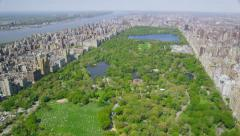 Aerial view of Central Park in New York City Arkistovideo