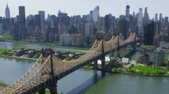 Aerial view of New York City Stock Footage