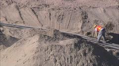 Desert Reservoir Construction Radar - stock footage