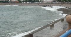4k video,Ocean waves crashing to gulf. Stock Footage