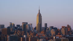Aerial view of Empire State Building New York City Stock Footage