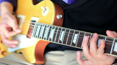 Playing electric guitar,close up of hand Stock Footage