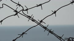 Barbed wire security jails, 4k Stock Footage