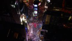 Aerial view of Times Square - stock footage