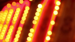 LAS VEGAS - BLURRED FLASHING LIGHTS Stock Footage