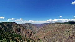 Time Lapse Over Black Canyon National Park Scenic Overview Stock Footage