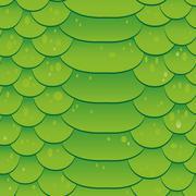 Snake skin texture. Seamless pattern green background. Vector Stock Illustration