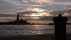Venezia. Sunset over the bay Stock Footage