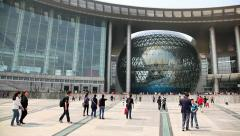 Science and Technology Museum in Shanghai, China - stock footage