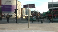 Time lapse of liverpool city center, cars and public Stock Footage