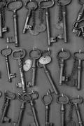 Antiikin rauta avaimet antiikkiliike Kuvituskuvat