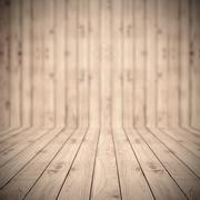 Brown wood planks floor texture with blur background wallpaper for product pr Stock Photos