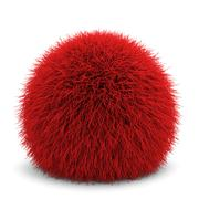 fluffy ball - stock illustration