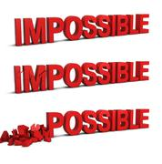 impossible becomes possible - stock illustration